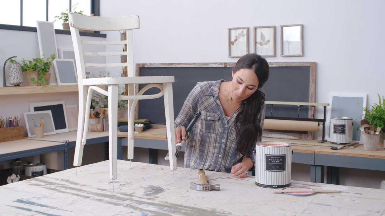 How To Paint Legged Furniture With Joanna Gaines