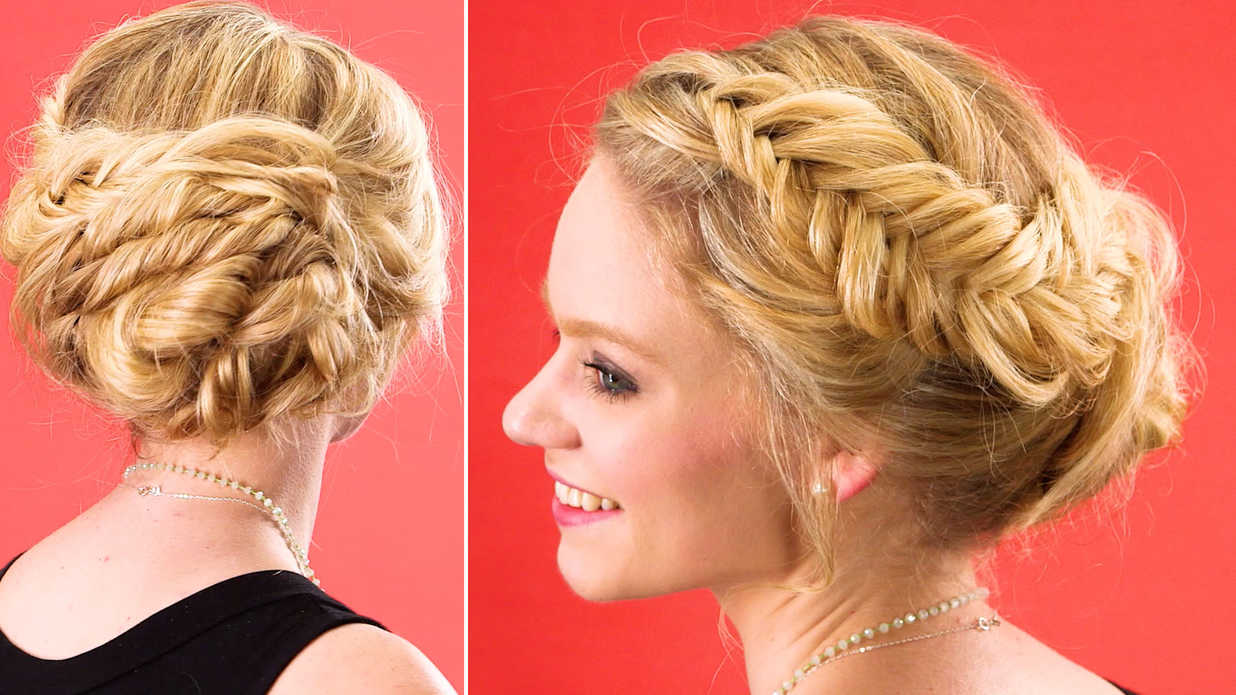 Style An Elegant Braided Updo Southern Living