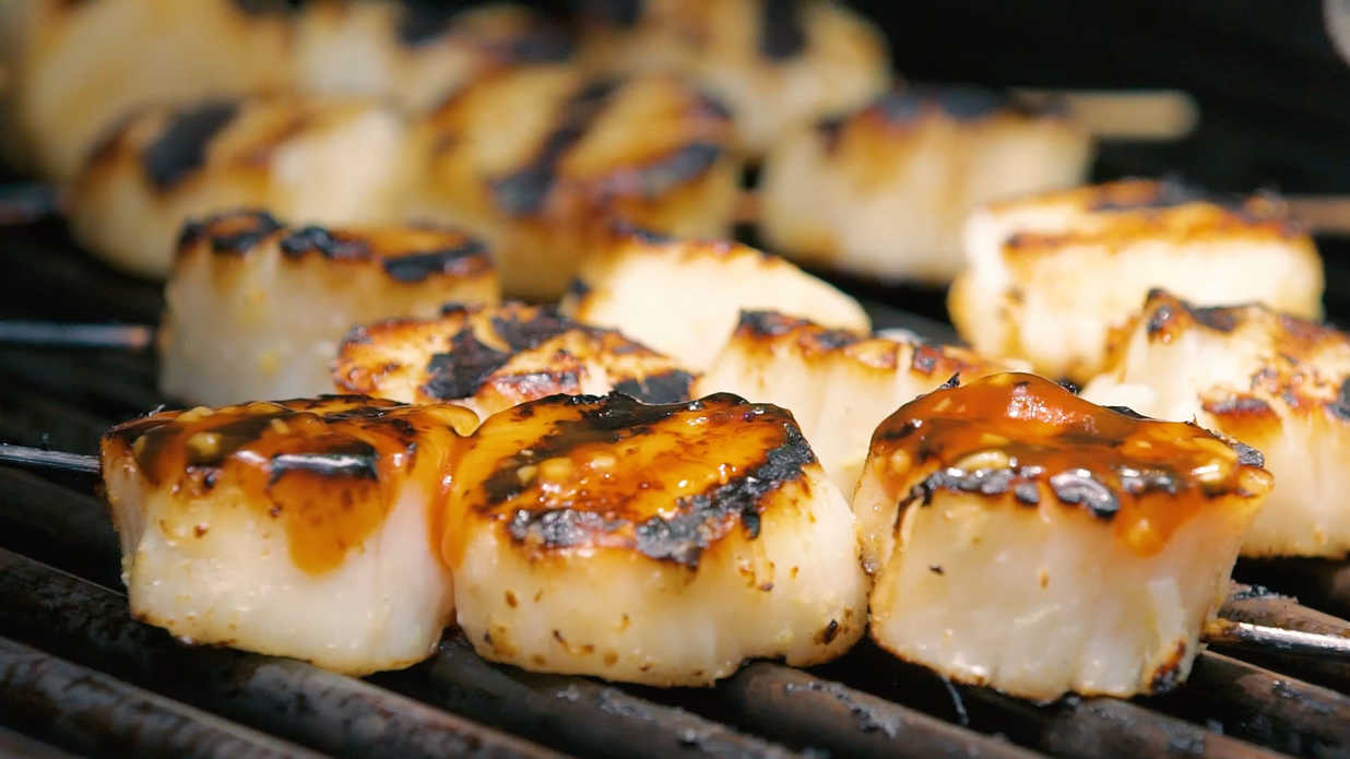 Grilled Sweet And Sour Scallops Southern Living