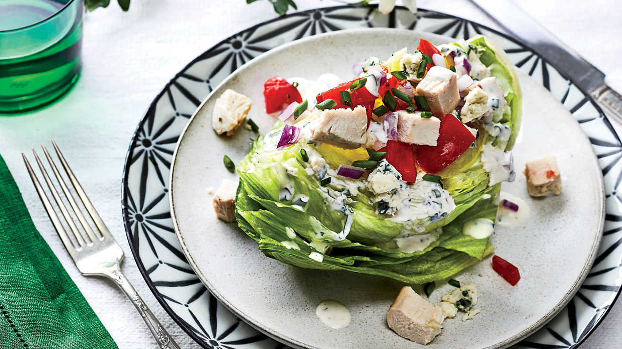 Wedge Salad With Turkey And Blue Cheese Buttermilk