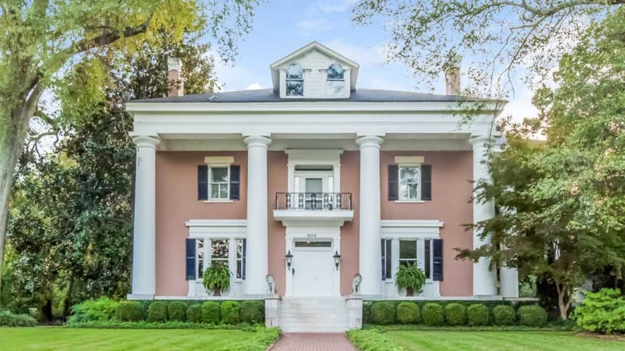 Take a Peek Inside this Historic Pink Home in Marietta, Georgia