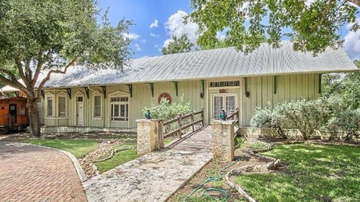 Tour This Former Train Depot Turned Private Home For Sale in Texas