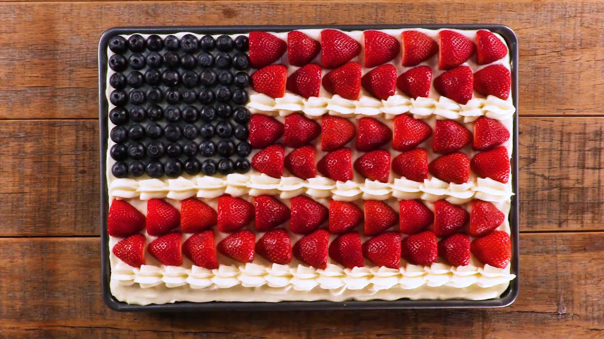 Sour Cream Flag Cake Recipe