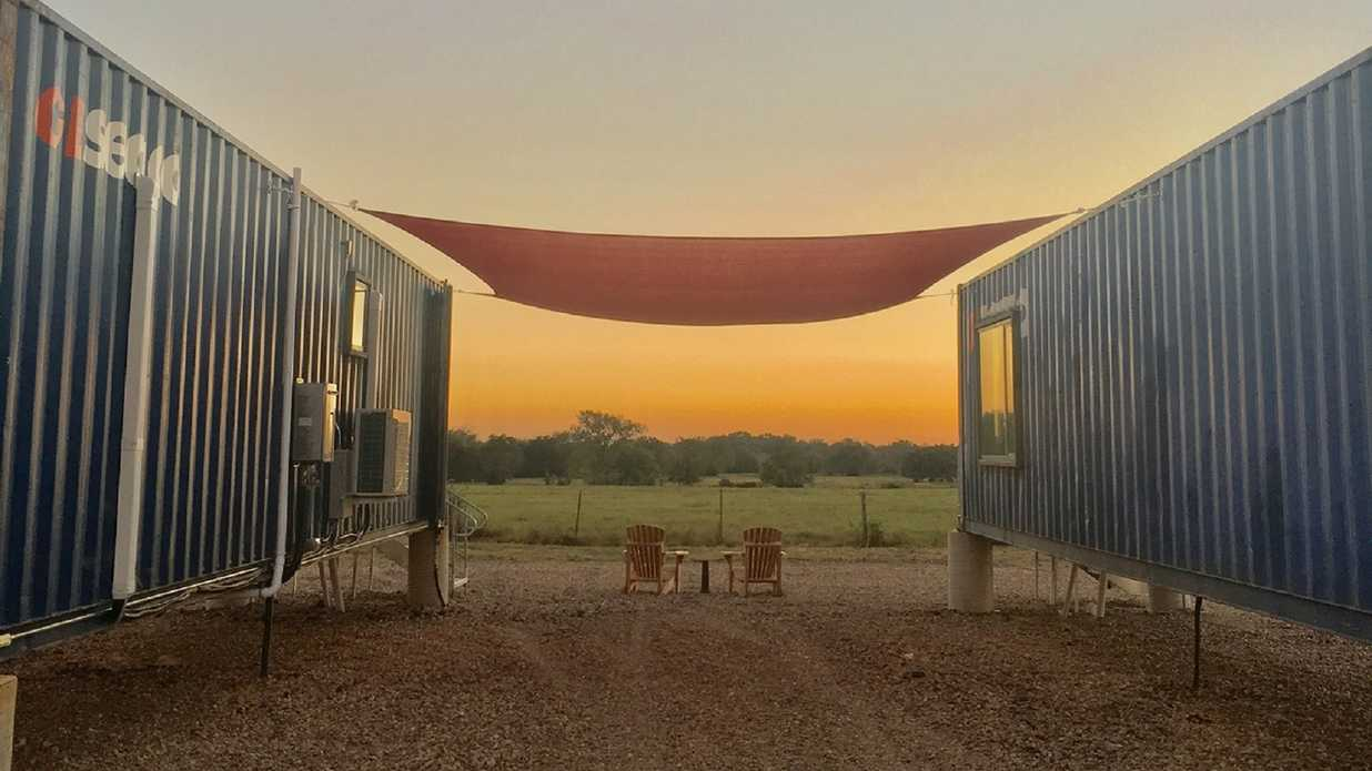 You've Got to See This Shipping Container Hotel in Round Top, Texas
