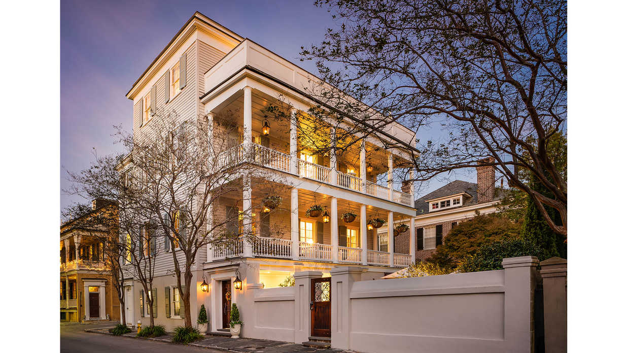 The Historic Charleston Mansion That Played Host to the City's First Post-Civil War Dance Asks Just Under $7 Million