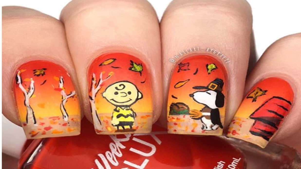 17 Fun and Festive Thanksgiving Nail Designs