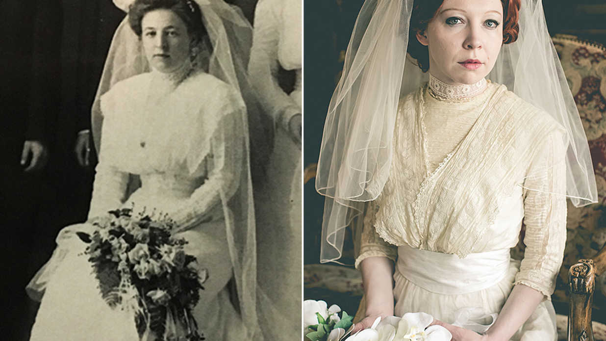 Bride Poses in 4 Generations of Family Wedding Gowns, Including Her Great-Grandmother's 1910 Dress: 'I Was Honored'