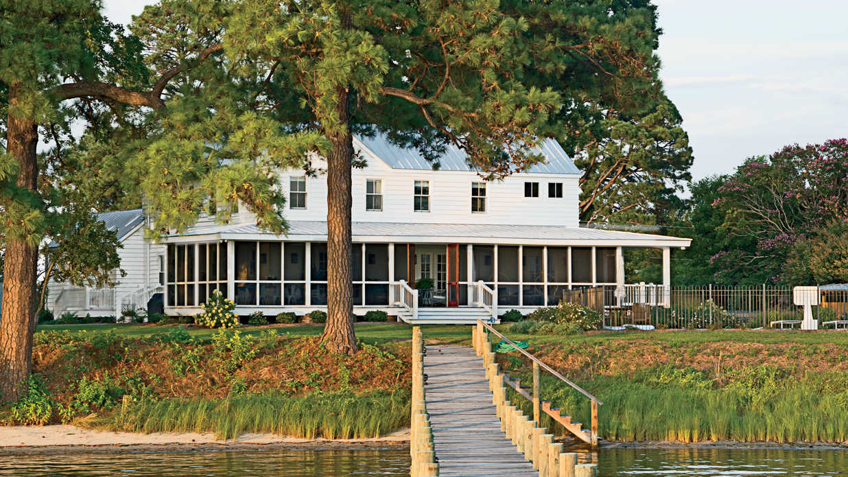 Tour This Stunning Waterfront Farmhouse