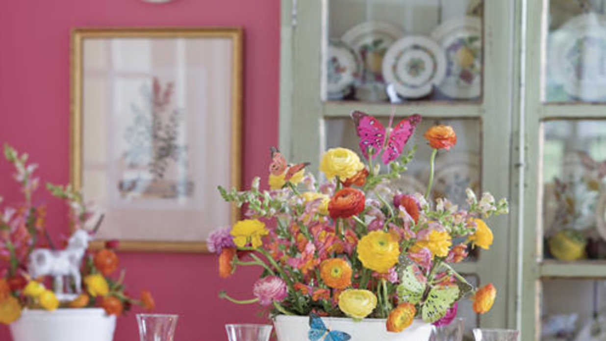 nest of sweets colorful easter table decorations southern living