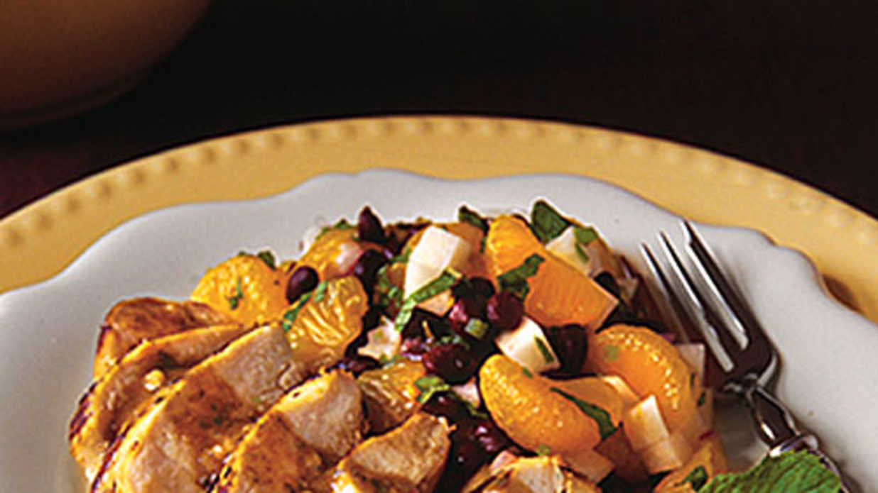 Cuban Mojo Chicken With Mandarin Black Bean Salad Favorite Grilled Chicken Recipes Southern