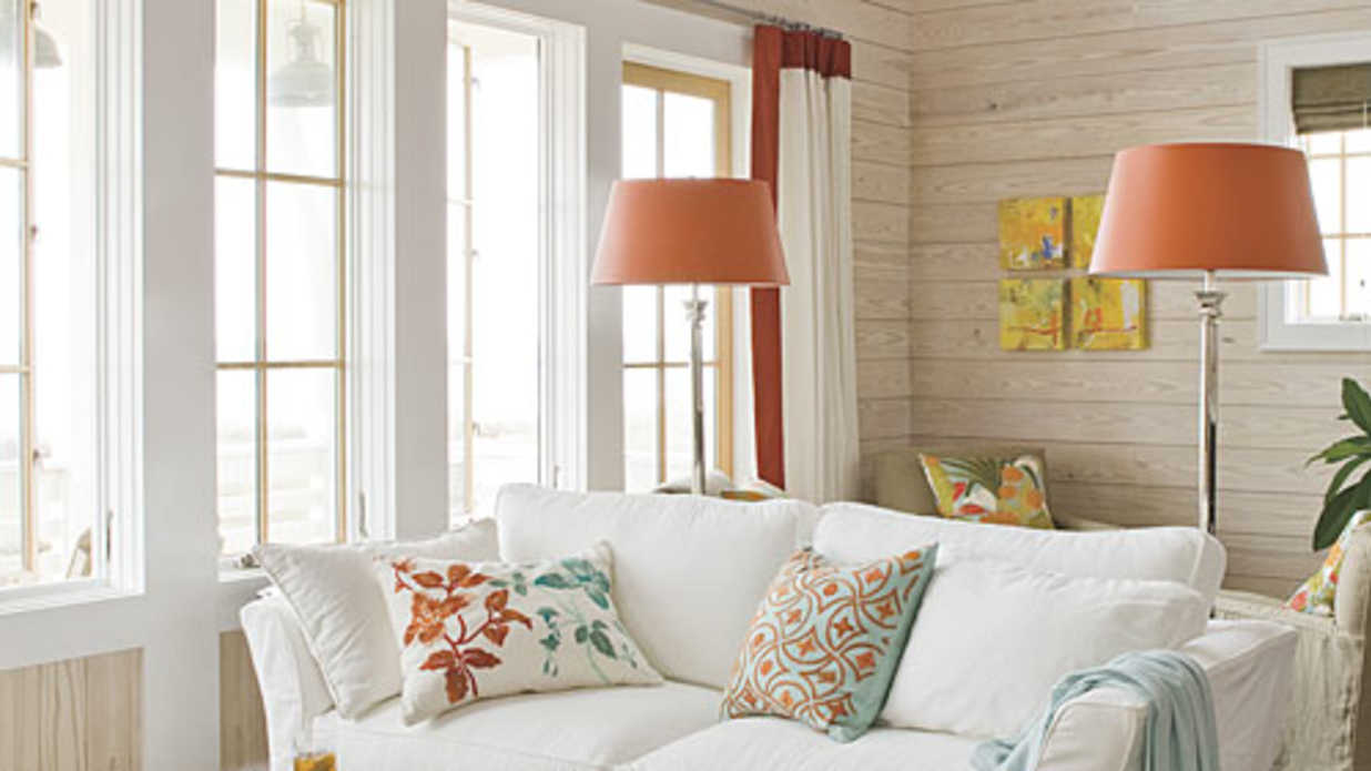 interior decorating ideas for living room.  Beach Home Decorating Southern Living