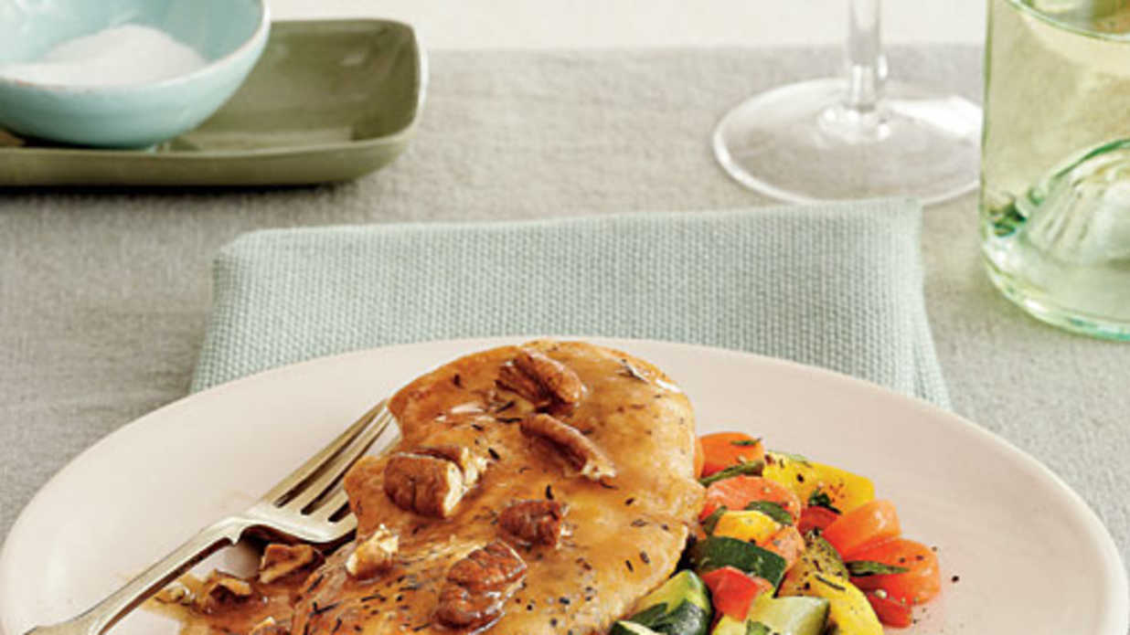 Quick and Easy Chicken Recipes: Chicken Cutlets with Pecan Sauce ...