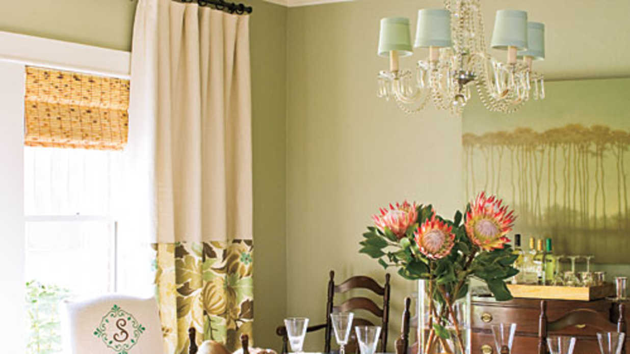 Layer Window Treatments Stylish Dining Room Decorating