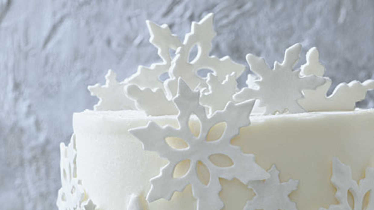 Cake Decorating Ideas: Fondant Snowflakes - Southern Living