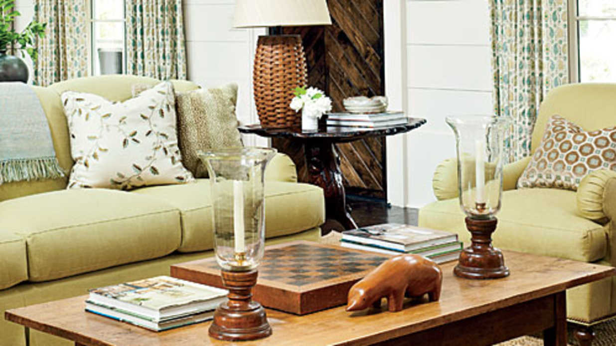 coffee table decorating tips southern living