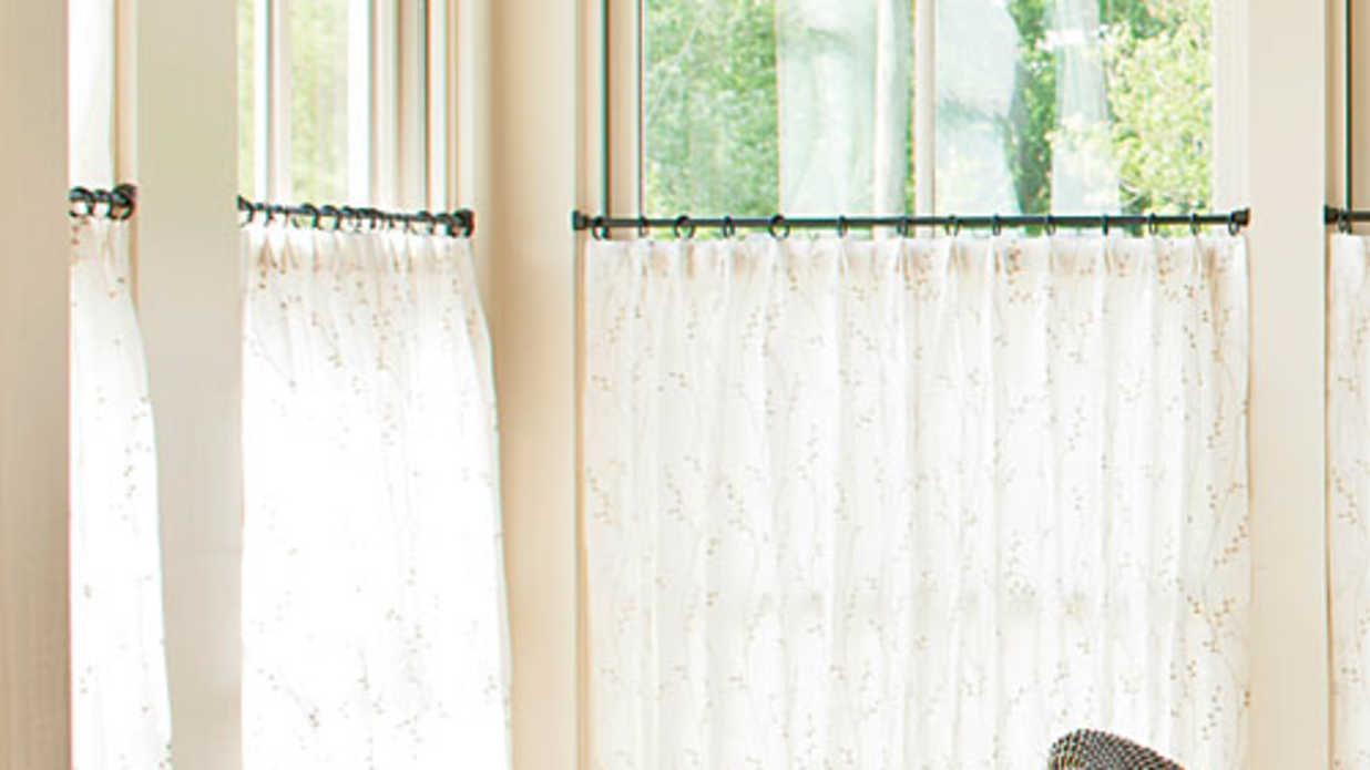 How To Hang Café Curtains - Southern Living