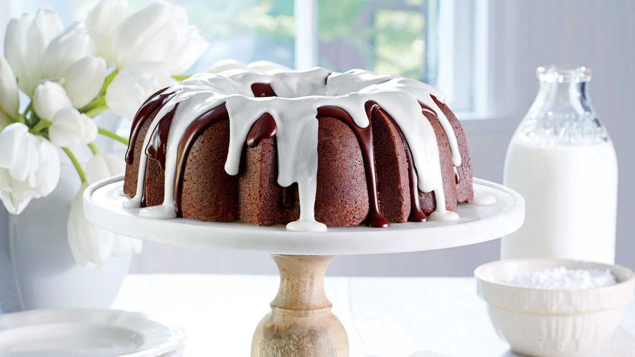 Triple-Chocolate Buttermilk Pound Cake Recipe