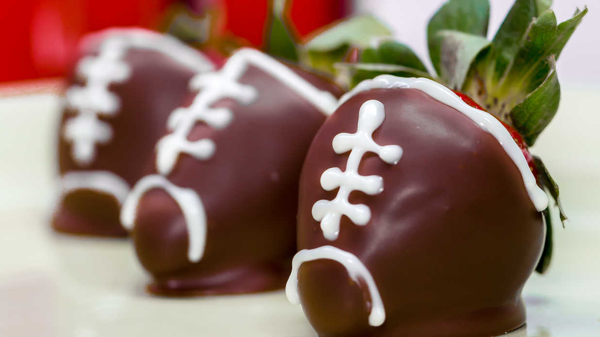 Chocolate Covered Strawberry Footballs Southern Living