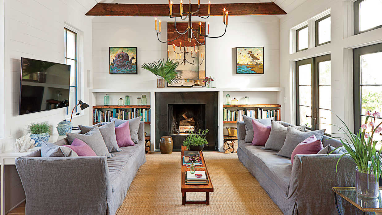Inviting family room design 106 living room decorating ideas southern living - Family living room ideas ...
