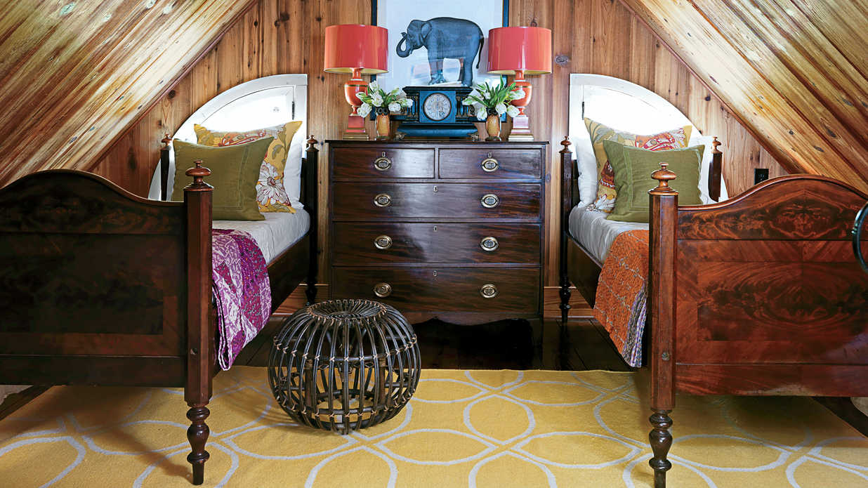 Travel Inspired Guest Room: Soulful Historic Home