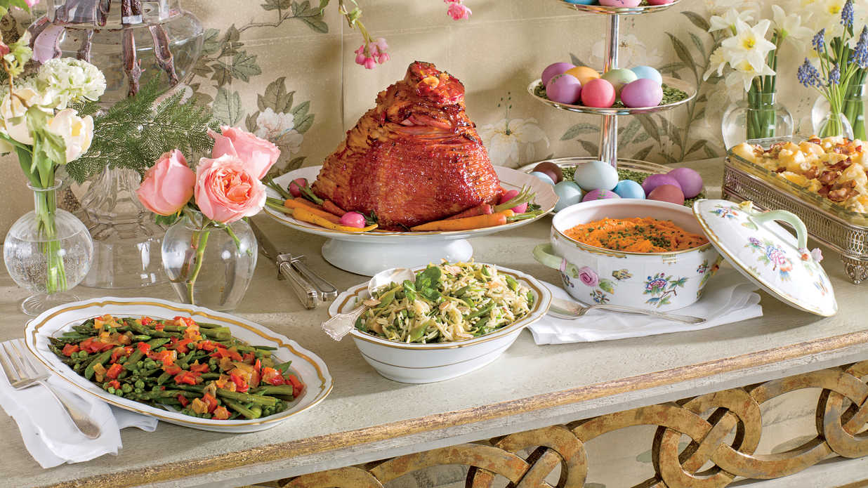 13 easter sunday lunch menus southern living. Black Bedroom Furniture Sets. Home Design Ideas