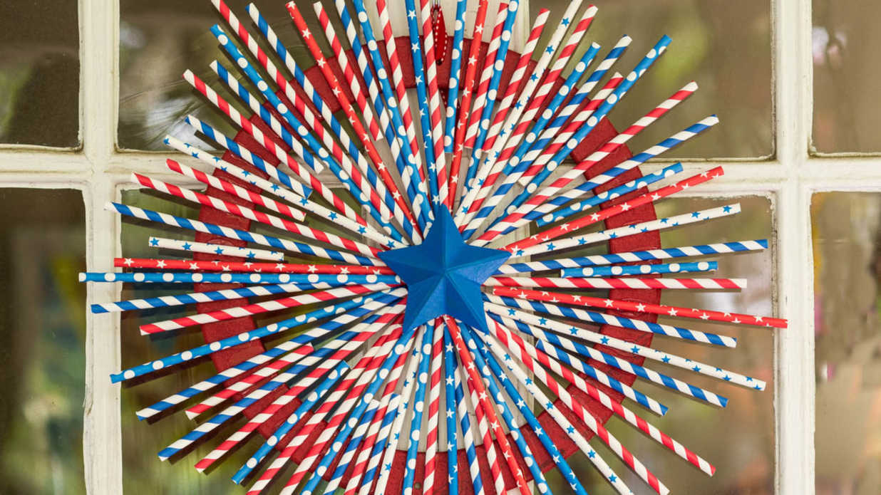 DIY Red, White, and Blue Wreath
