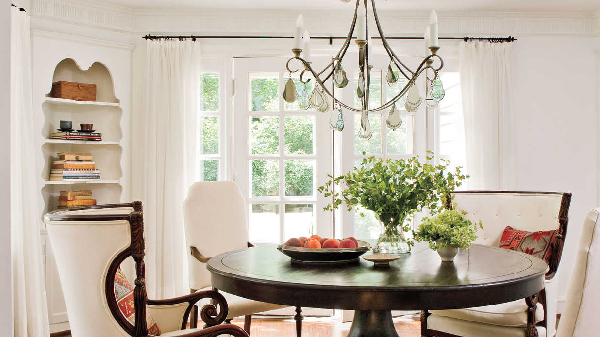 Lighten Up With Windows Stylish Dining Room Decorating