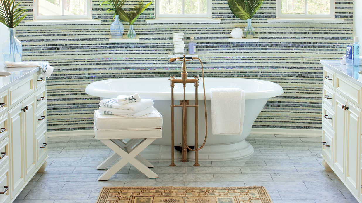 Southern Living Bathroom Decorating Ideas : Luxurious master bathroom design ideas southern living