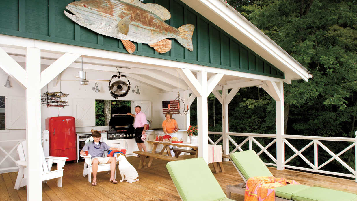 Outdoor kitchen how one couple turned a run down georgia - Home decor ideas for small homes ...