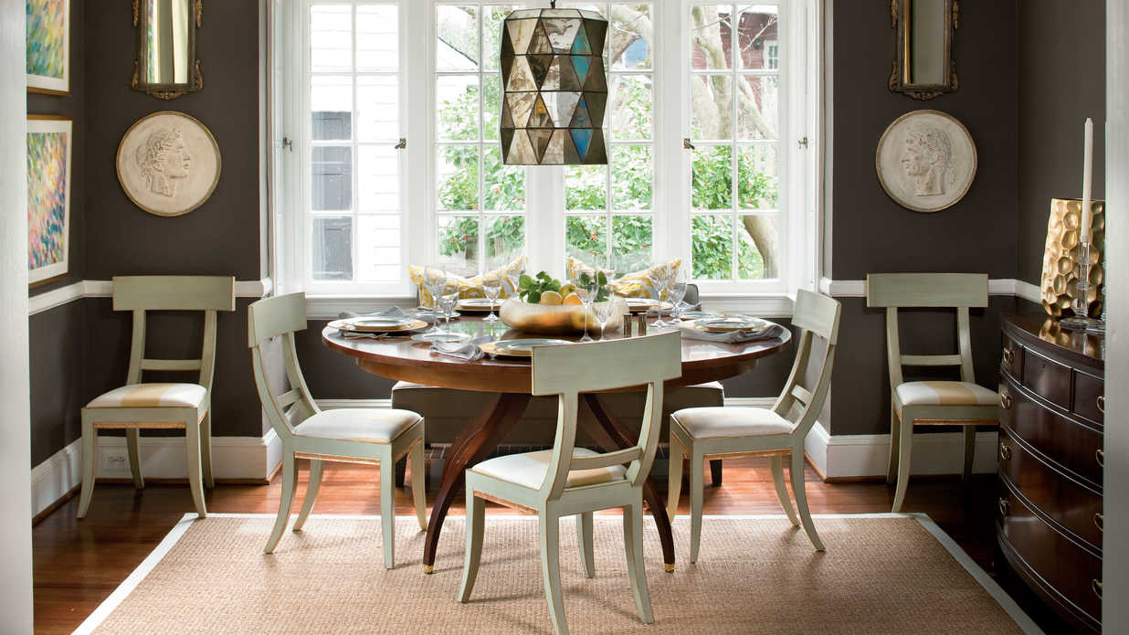 Vary your finishes stylish dining room decorating ideas for Southern living dining room ideas