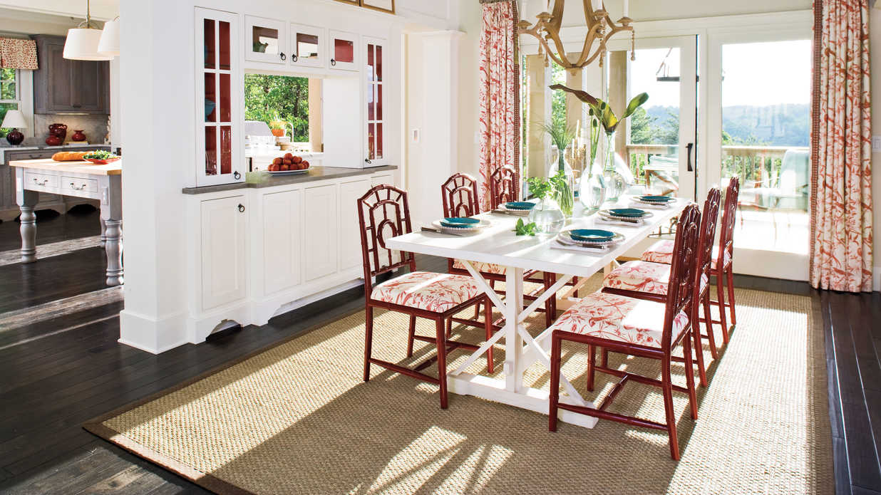 dining room decorating ideas and place setting tips - southern living