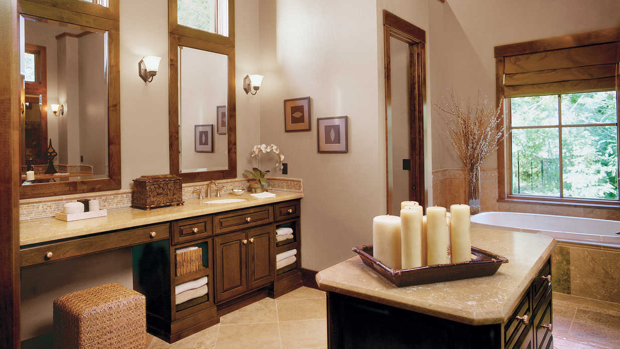 Try An Island In A Large Space 65 Calming Bathroom