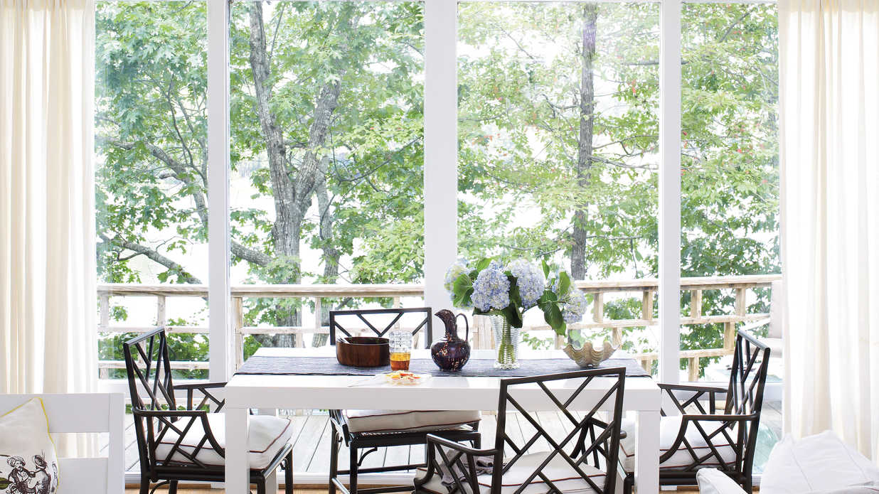 Take Advantage Of The View Stylish Dining Room