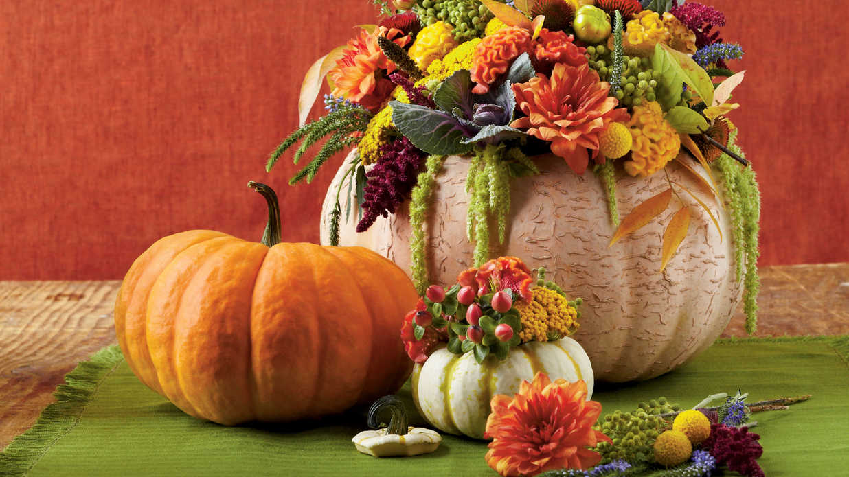 Smashing Pumpkin Centerpiece