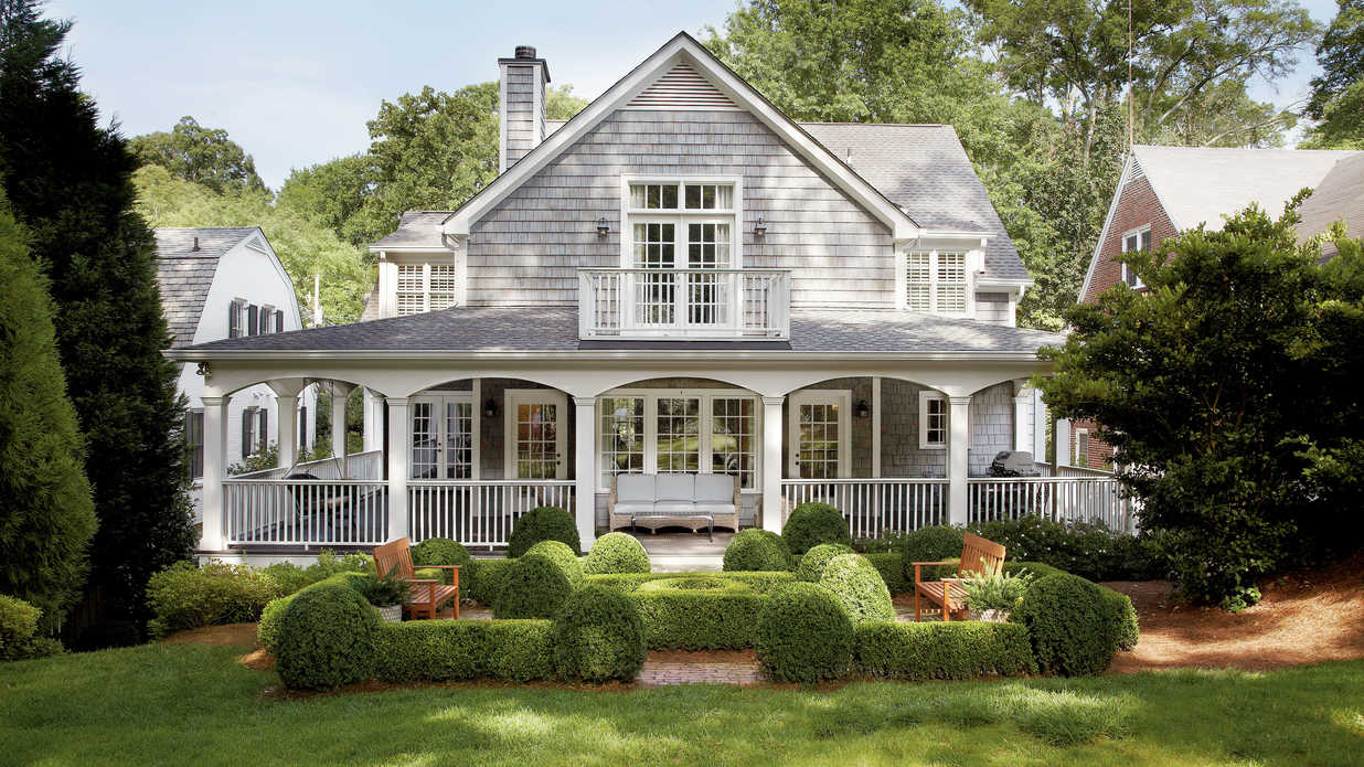 Cottage before and after southern living for Southern living cape cod house plans