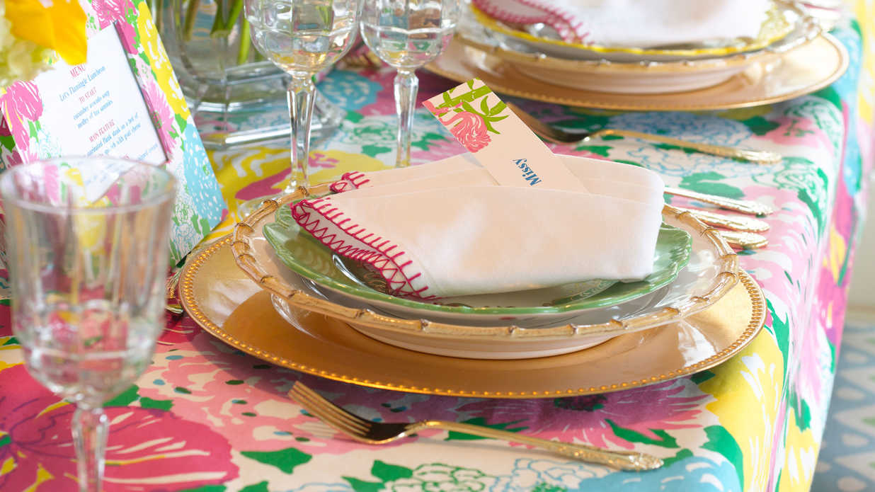 Host a Lilly Pulitzer-Inspired Luncheon!