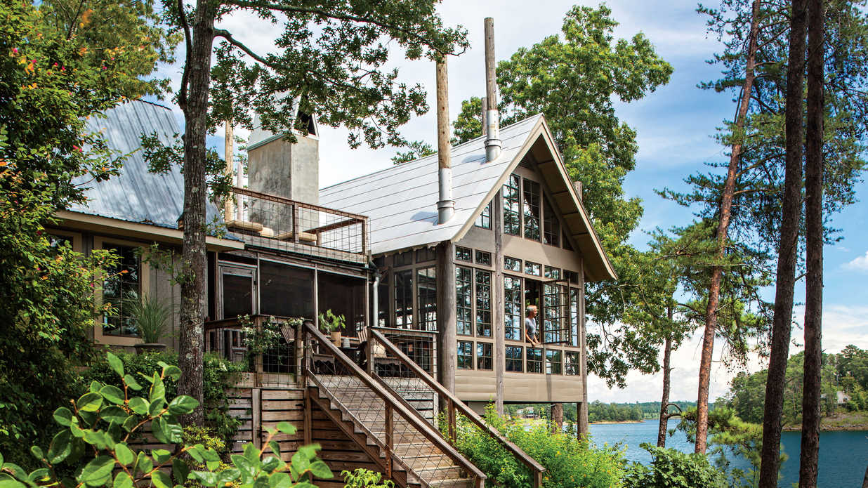Lake House in the Trees