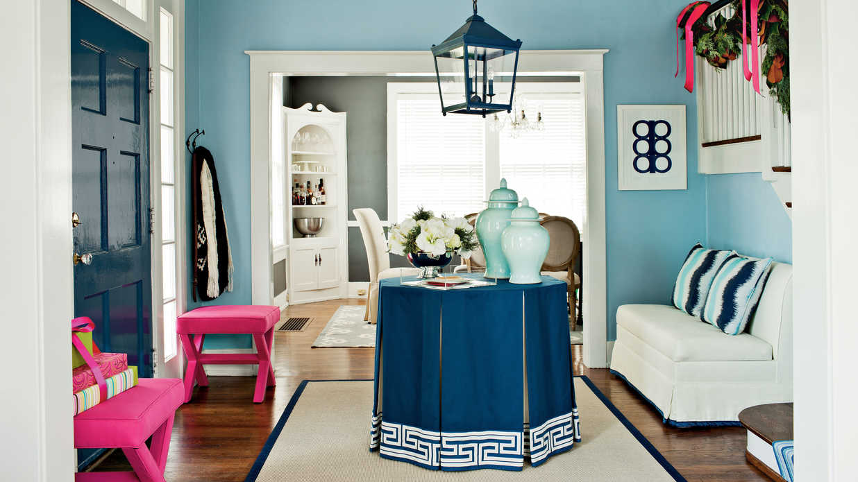 Colorful Foyer Makeover