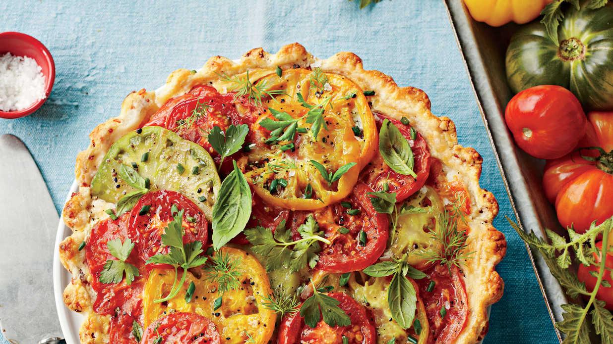 savory tomato pie recipes southern living. Black Bedroom Furniture Sets. Home Design Ideas