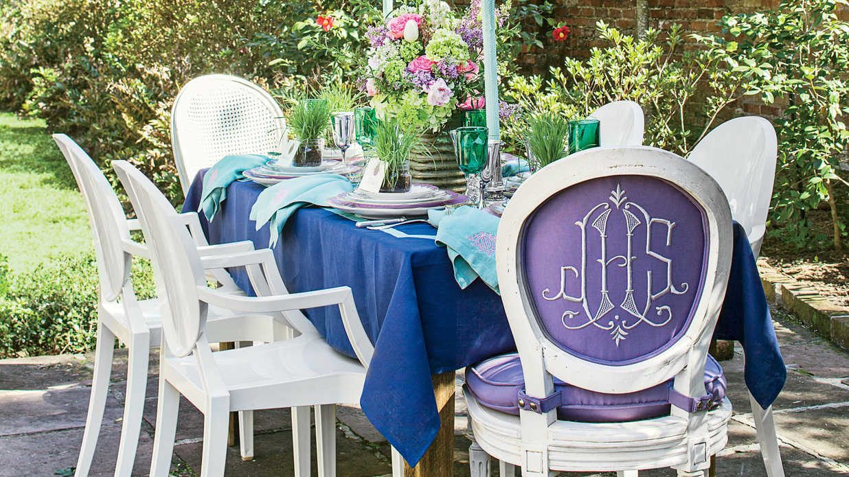 Spring Garden Party Table Setting