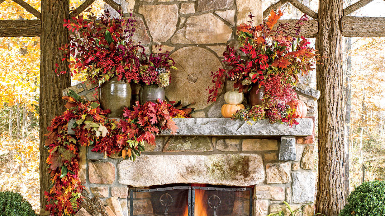A picture of autumn leaves as a great way to decorate your home