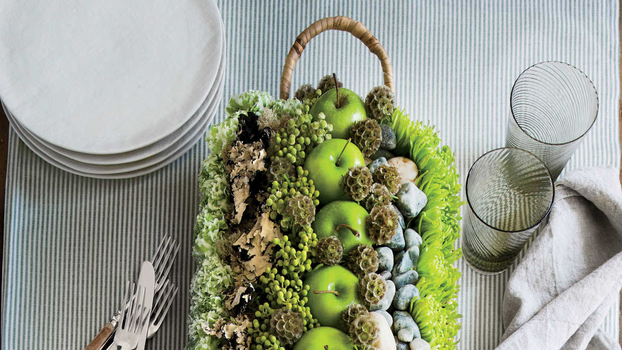 The 10 Minute Fall Apple Centerpiece Southern Living