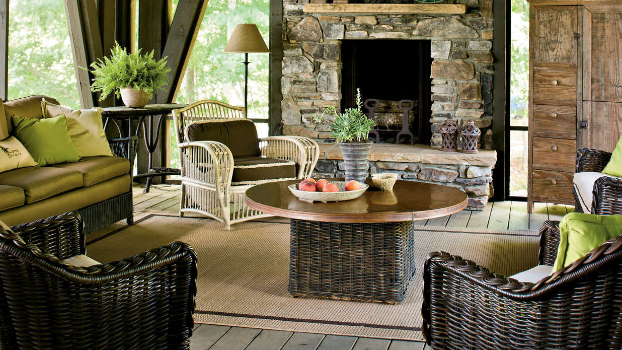 Screened Porch - Naturally Inspired Georgia Lake House ... on Southern Outdoor Living id=60415
