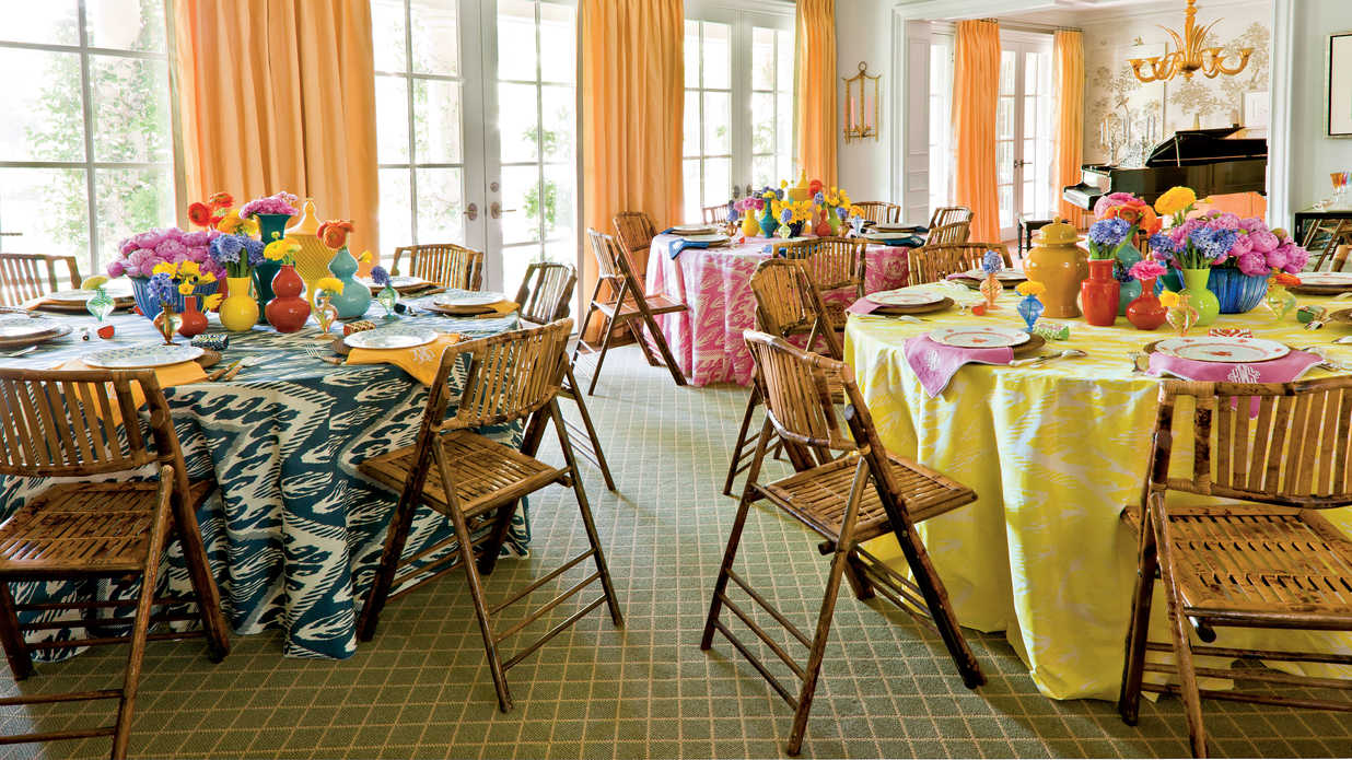 Bridal Luncheon Ideas: Showered in Color