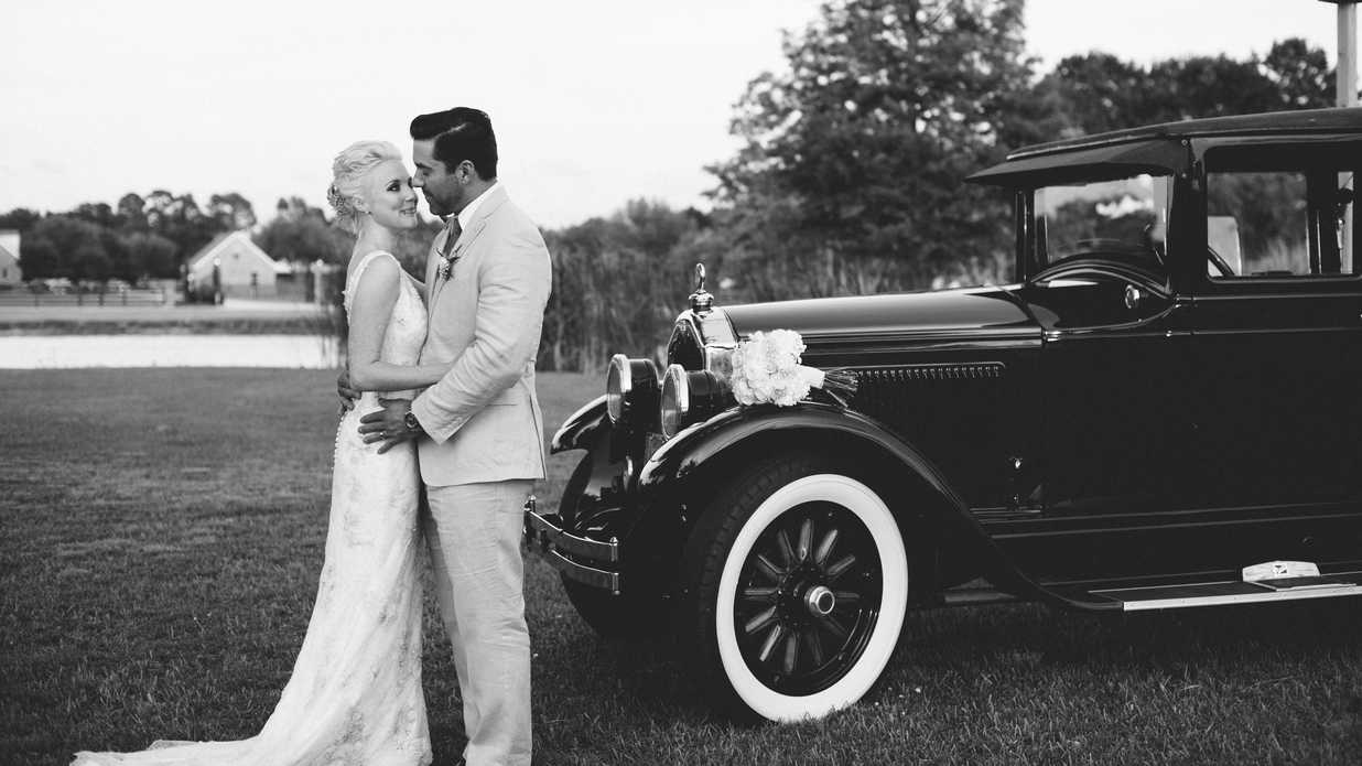 Backyard Louisiana Wedding with Vintage Details