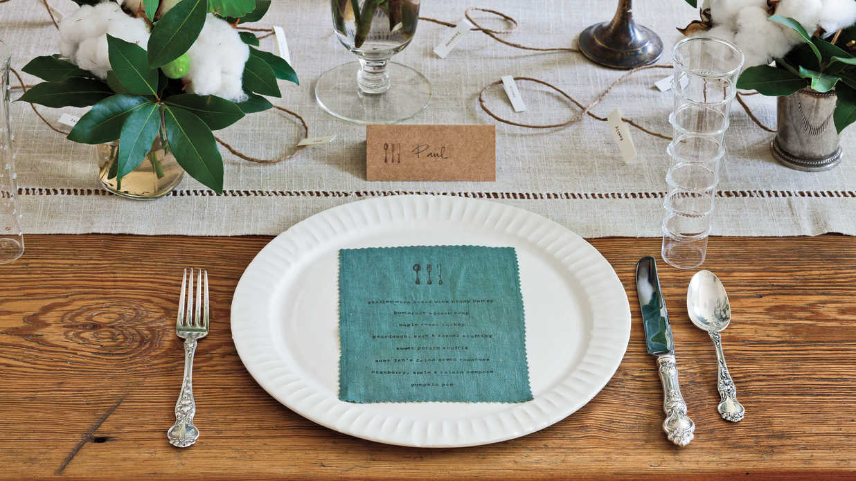 Irish Table Settings Simple Thanksgiving Table Setting Southern Living