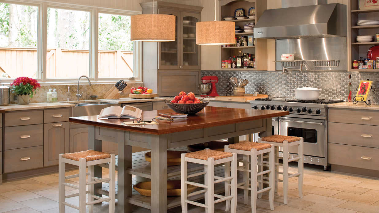 Inspired design kitchen inspiration southern living for Southern kitchen design