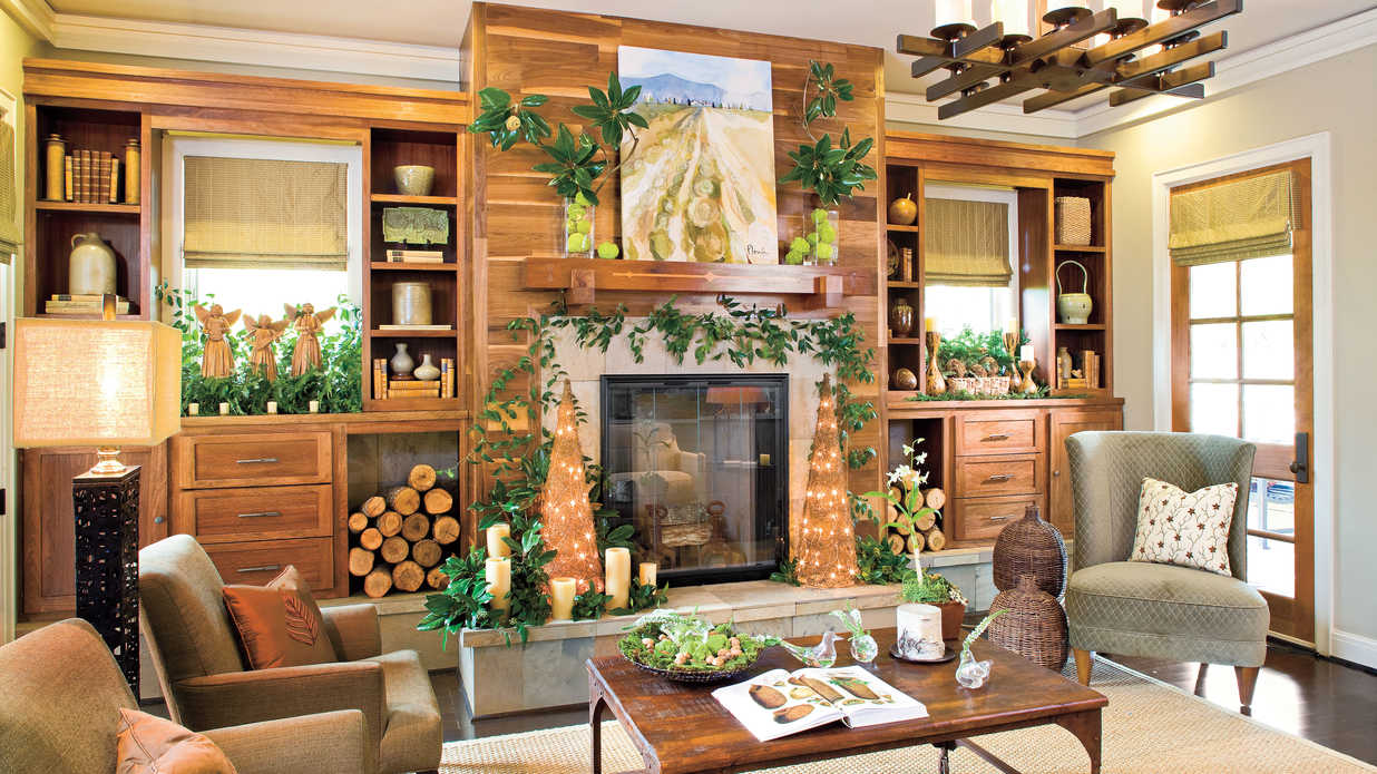 rustic christmas decor southern living