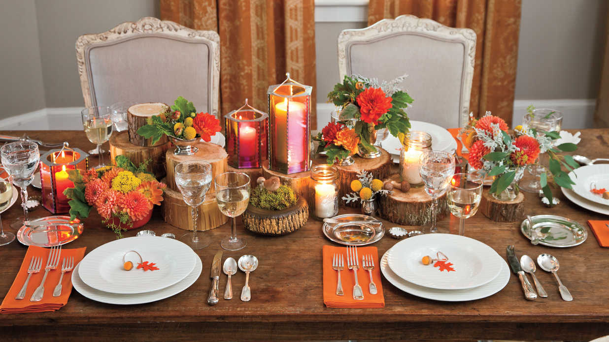 Candlelight Dinner - Fall Decorating Ideas -Southern Living
