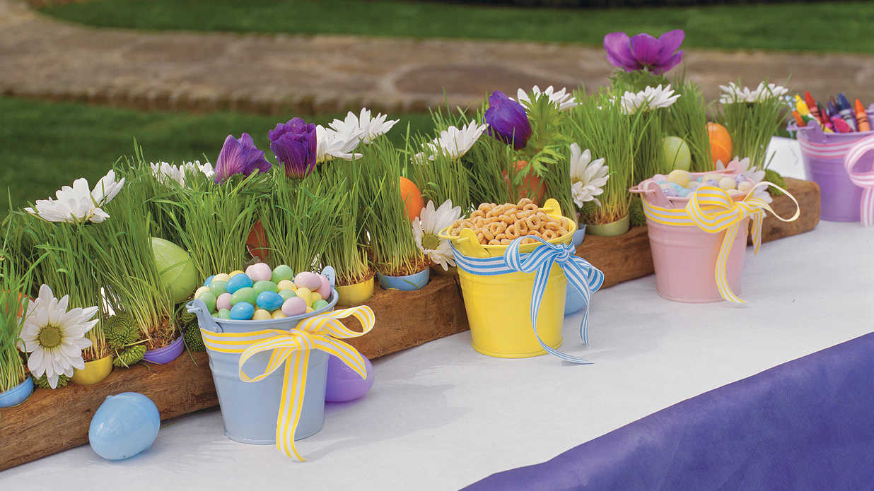 Kid Friendly Easter Table Spring Table Settings And